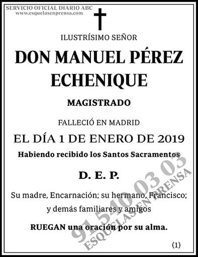 Manuel Pérez Echenique