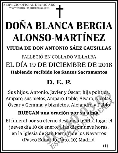 Blanca Bergia Alonso-Martínez