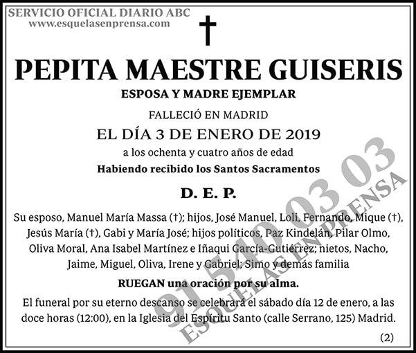 Pepita Maestre Guiseris