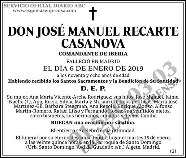 José Manuel Recarte Casanova
