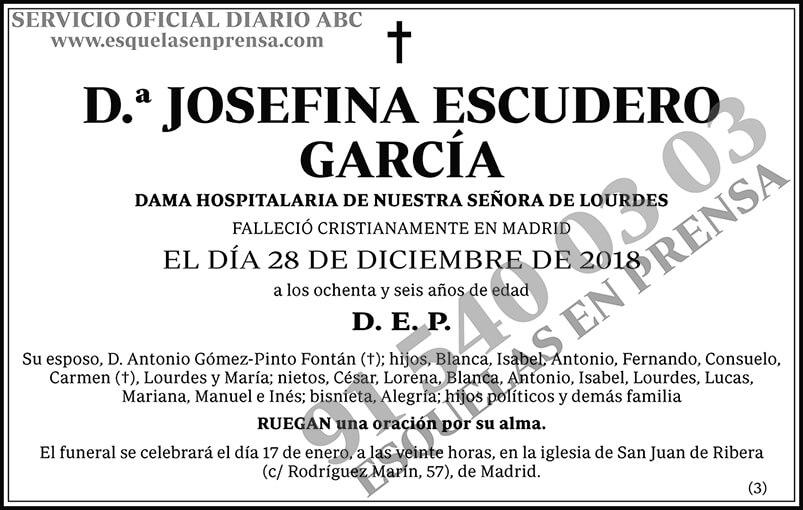 Josefina Escudero García