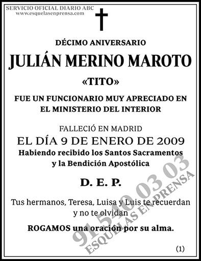 Julián Merino Maroto