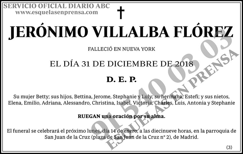 Jerónimo Villalba Flórez
