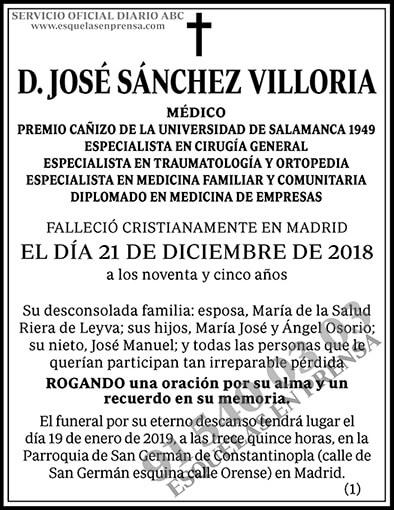 José Sánchez Villoria