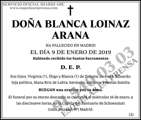 Blanca Loinaz Arana