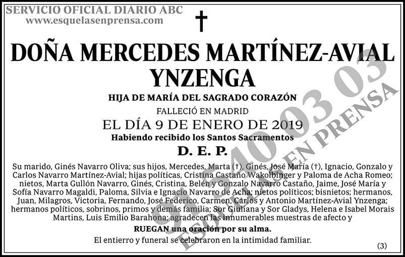 Mercedes Martínez-Avial Ynzenga