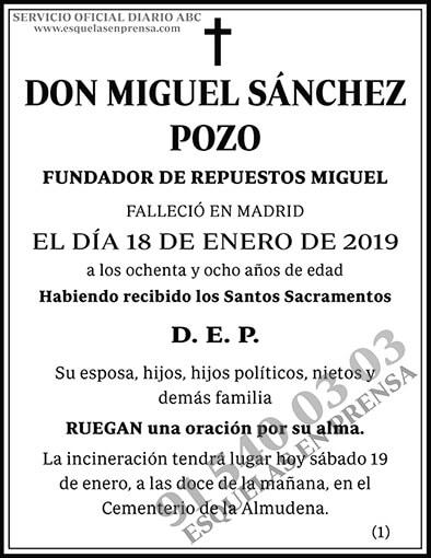 Miguel Sánchez Pozo