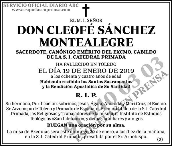 Cleofé Sánchez Montealegre