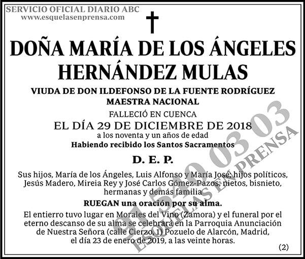 María de los Ángeles Hernández Mulas