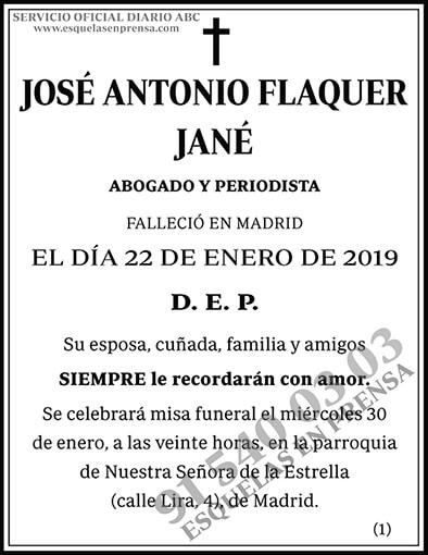 José Antonio Flaquer Jané
