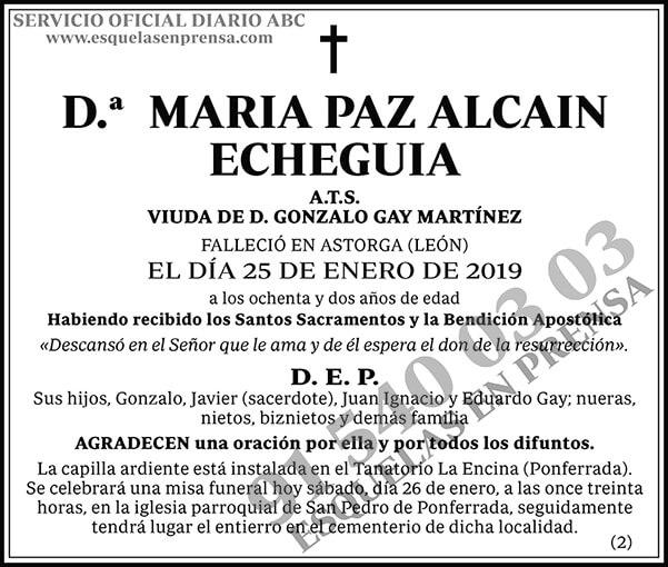 María Paz Alcain Echeguia