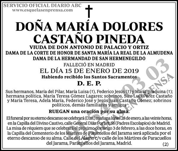 María Dolores Castaño Pineda