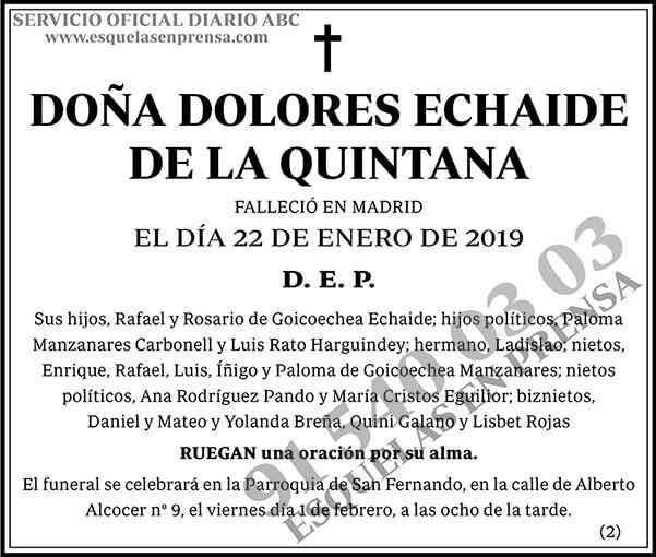 Dolores Echaide de la Quintana