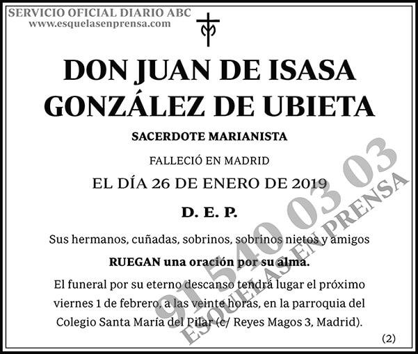 Juan de Isasa González de Ubieta