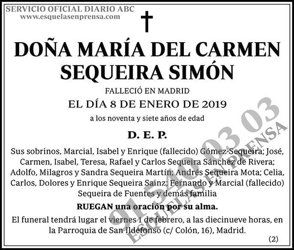 María del Carmen Sequeira Simón