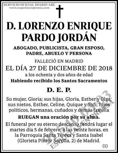 Lorenzo Enrique Pardo Jordán