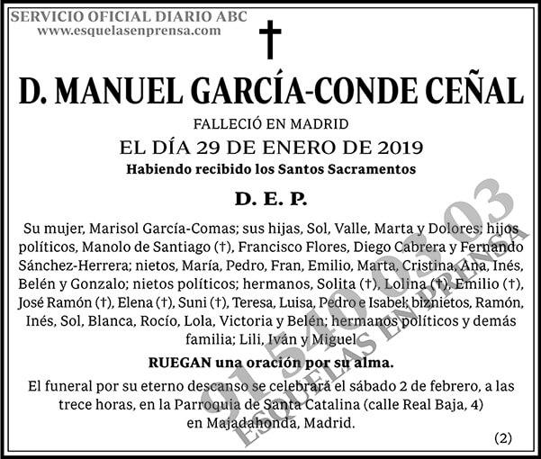 Manuel García-Conde Ceñal