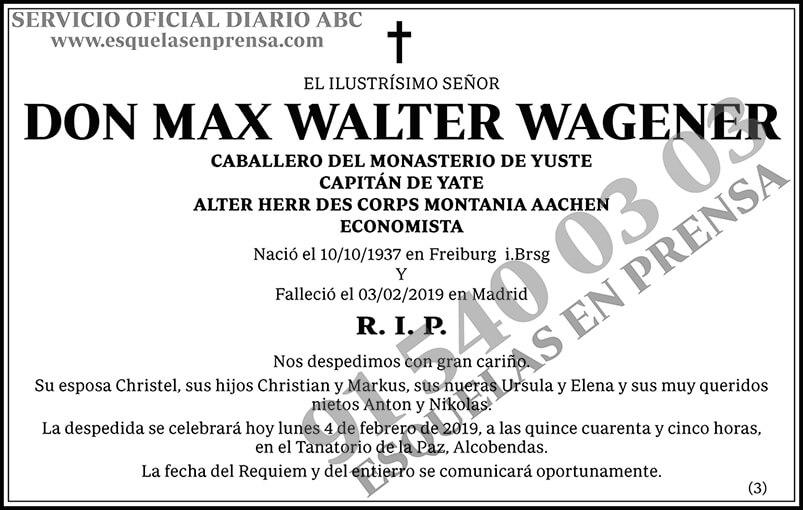 Max Walter Wagener