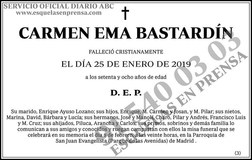 Carmen Ema Bastardín