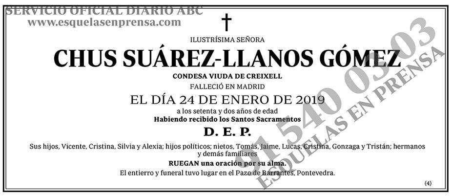 Chus Suárez-Llanos Gómez