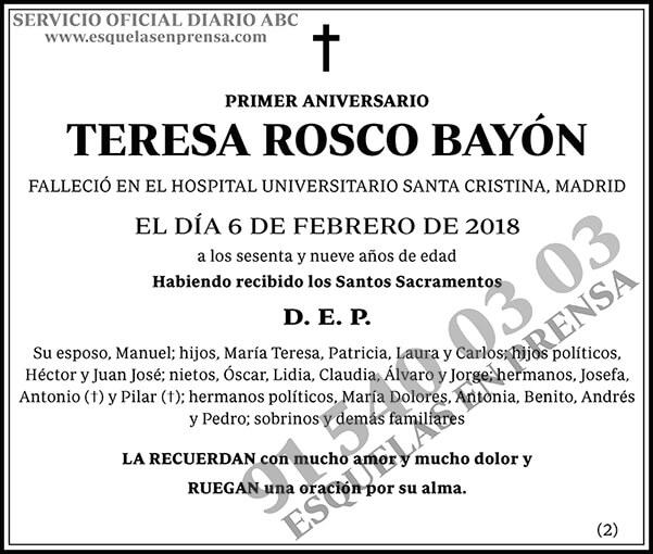 Teresa Rosco Bayón