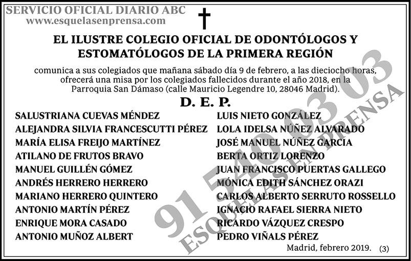 Colegio Oficial de Odontólogos y Estomatólogos de la Primera Región