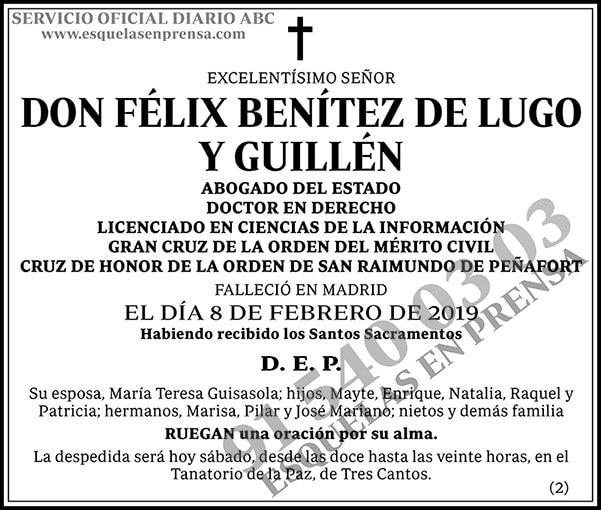 Félix Benítez de Lugo y Guillén