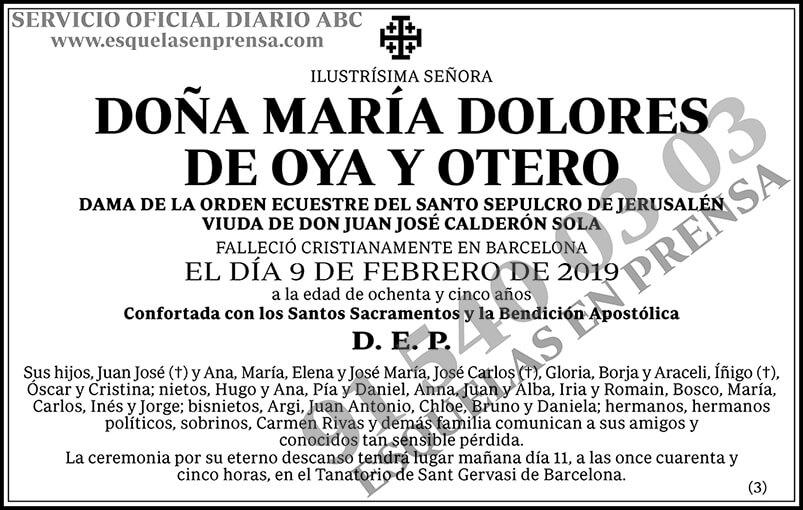 María Dolores de Oya y Otero