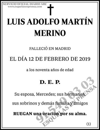 Luis Adolfo Martín Merino