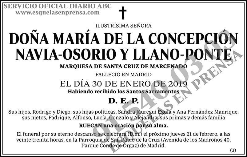 María de la Concepción Navia-Osorio y Llano-Ponte
