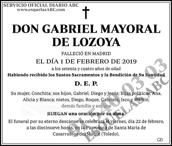 Gabriel Mayoral de Lozoya