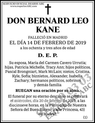 Bernard Leo Kane