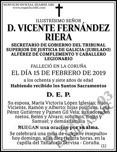 Vicente Fernández Riera