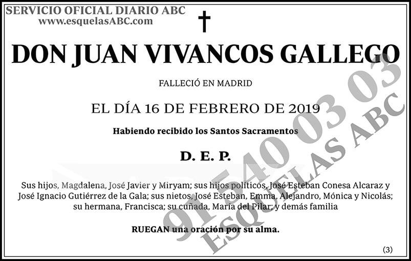 Juan Vivancos Gallego