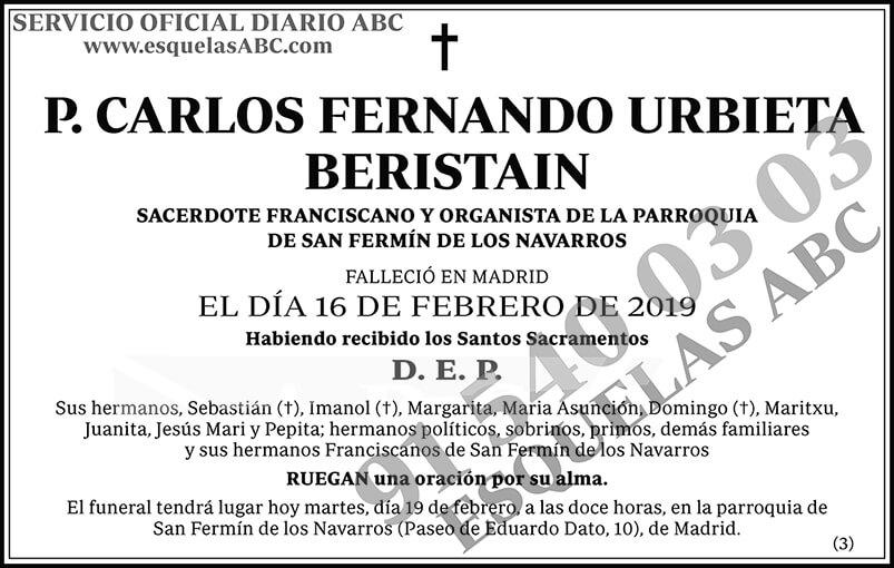 Carlos Fernando Urbieta Beristain