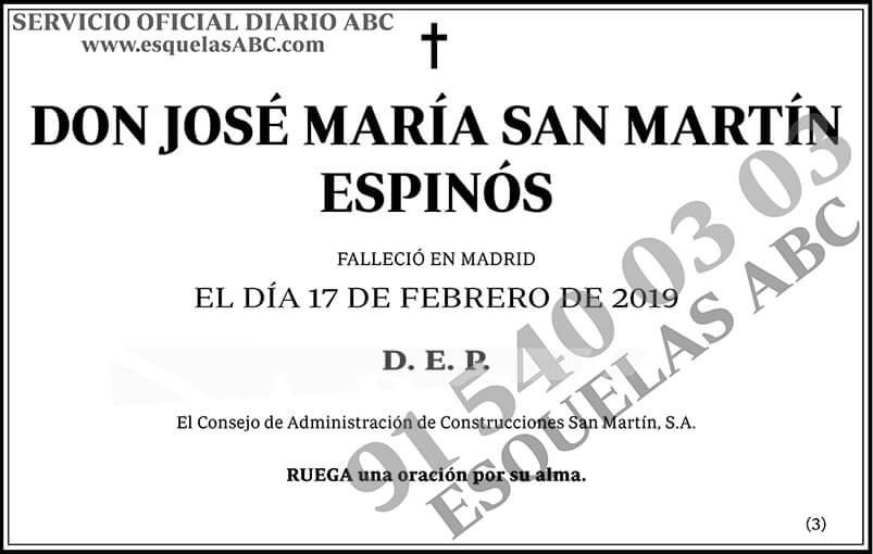 José María San Martín Espinós