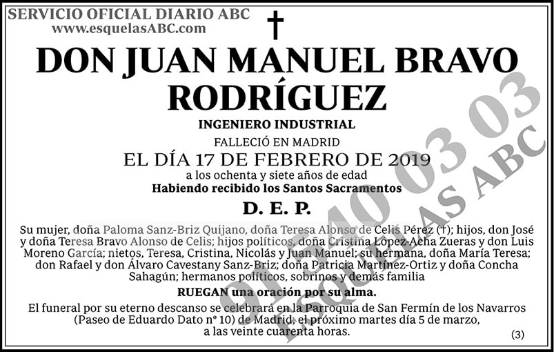 Juan Manuel Bravo Rodríguez
