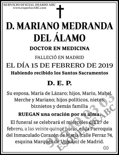 Mariano Medranda del Álamo