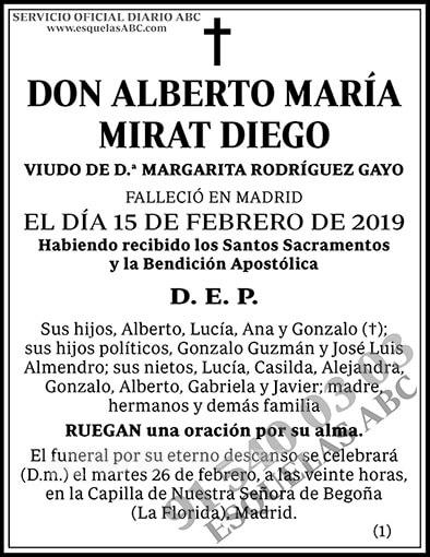 Alberto María Mirat Diego
