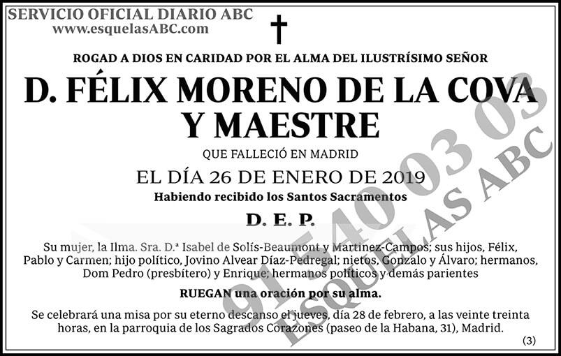 Félix Moreno de la Cova y Maestre