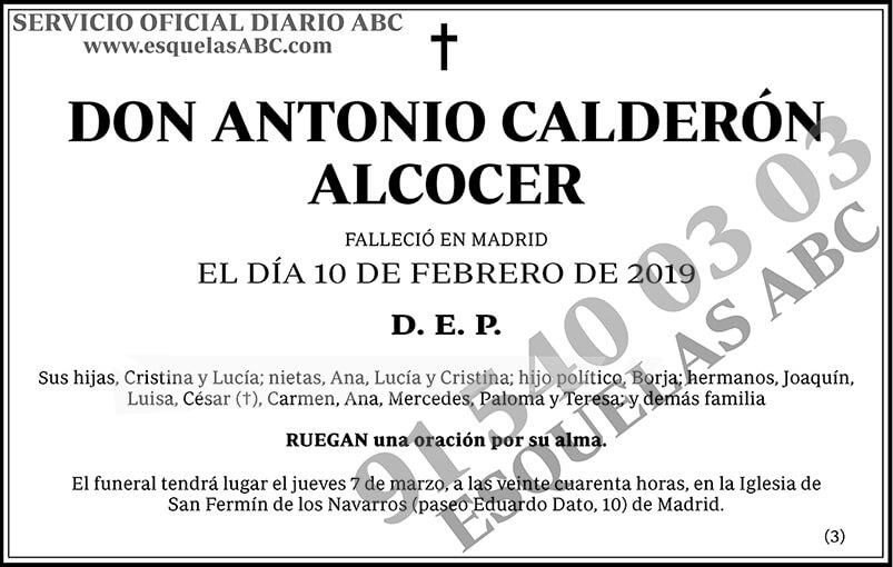 Antonio Calderón Alcocer