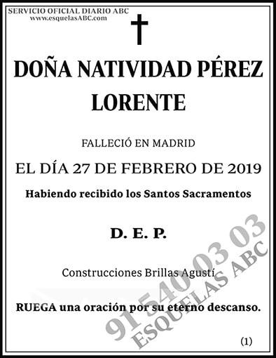Natividad Pérez Lorente