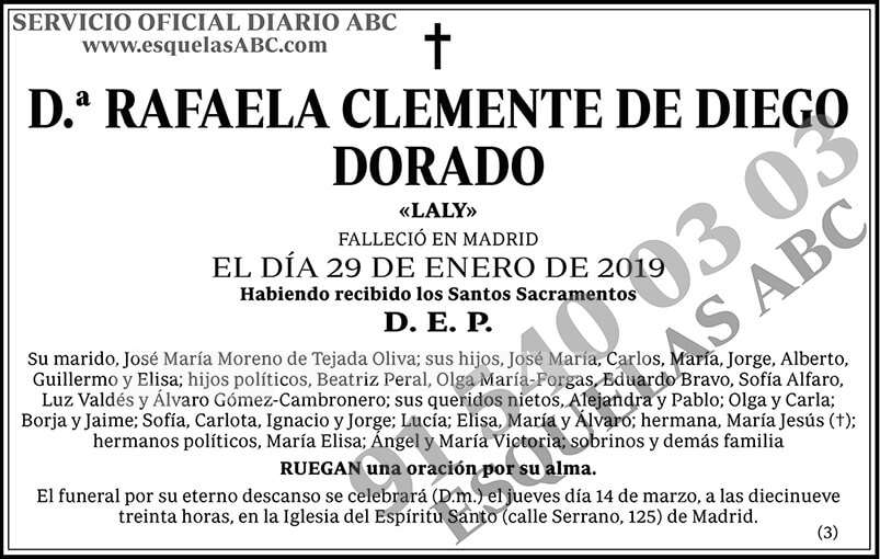 Rafaela Clemente de Diego Dorado