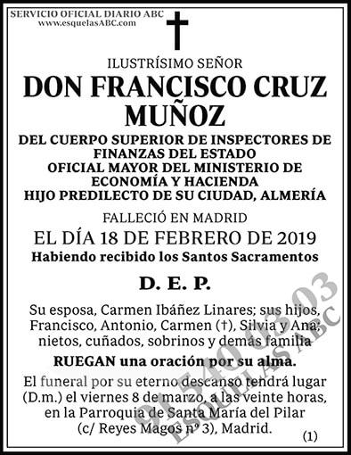 Francisco Cruz Muñoz