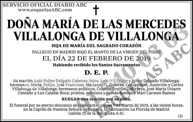 María de las Mercedes Villalonga de Villalonga
