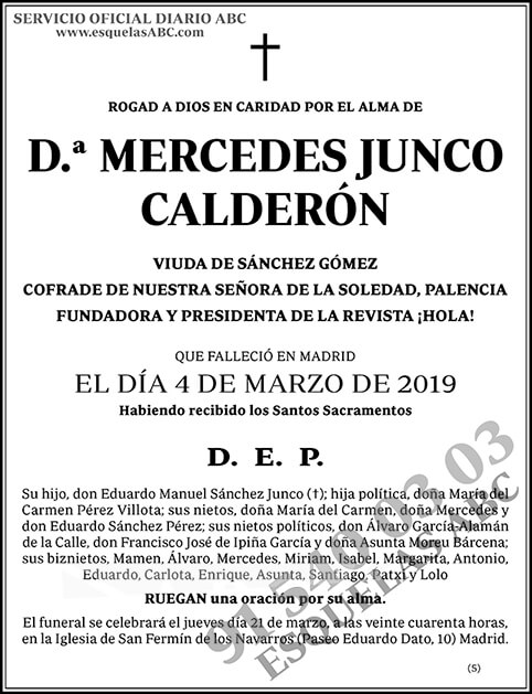 Mercedes Junco Calderón