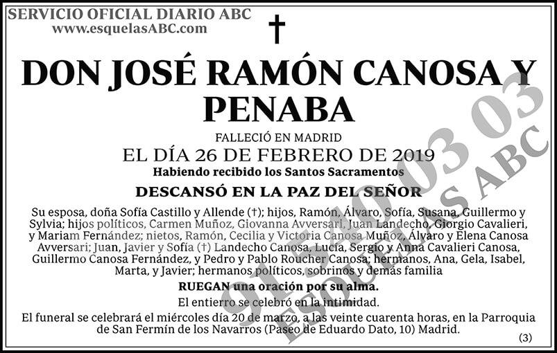 José Ramón Canosa y Penaba