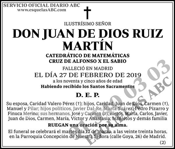 Juan de Dios Ruiz Martín