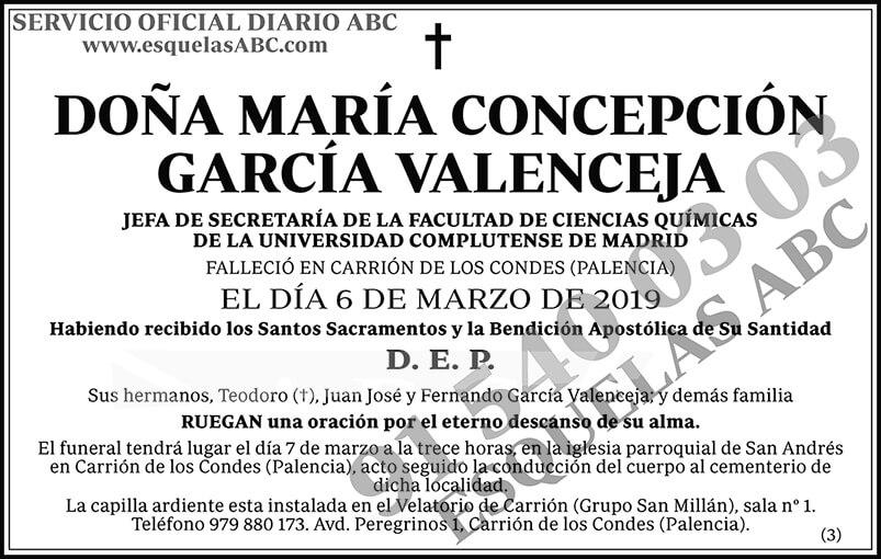 María Concepción García Valenceja