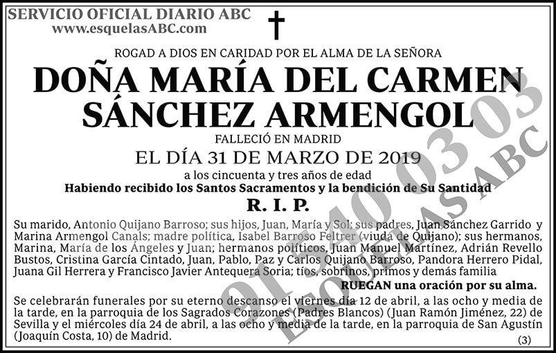 María del Carmen Sánchez Armengol